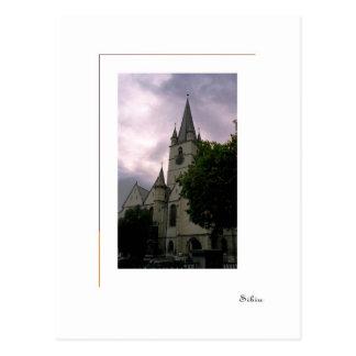 Sibiu, Rumänien - evangelische Kirche Postkarte