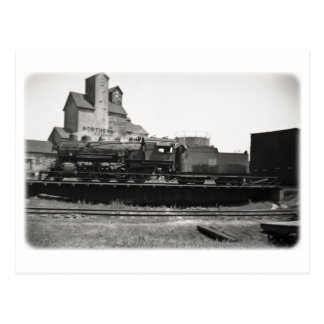 Sich fortbewegender Dampf-Motor auf der Turntable Postkarte