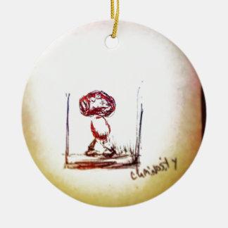 Sich hin- und herbewegendes Gehirn Bio Keramik Ornament