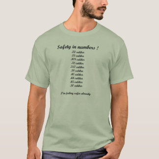 Sicherheit im Zahl-Kaliber T-Shirt