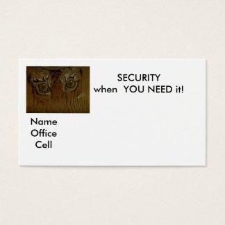 SICHERHEIT, wenn SIE es BENÖTIGEN! , Visitenkarte