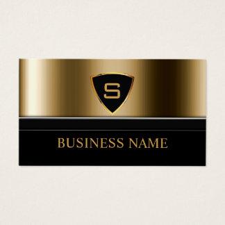 Sicherheits-Leibwächter-Goldschild-Monogramm Visitenkarte