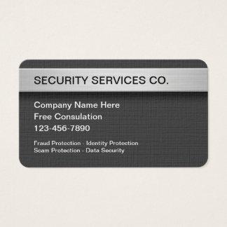 Sicherheits-Schutz und Dienstleistungen Visitenkarte