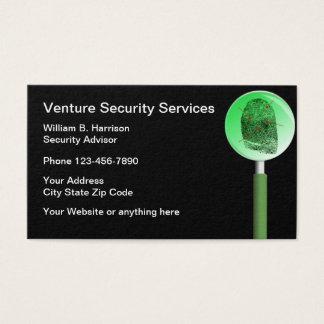 Sicherheits-Schutzdienste Visitenkarte