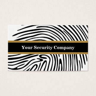 Sicherheits-Visitenkarten Visitenkarte