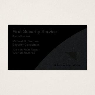 Sicherheitsdienst-Visitenkarten Visitenkarten