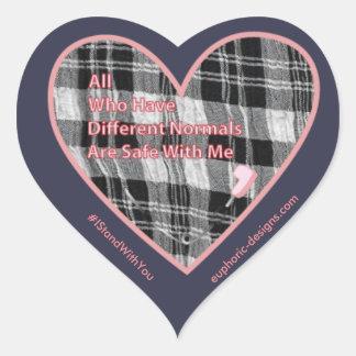 Sicherheitunterschiedlicher Normals-Aufkleber Herz-Aufkleber