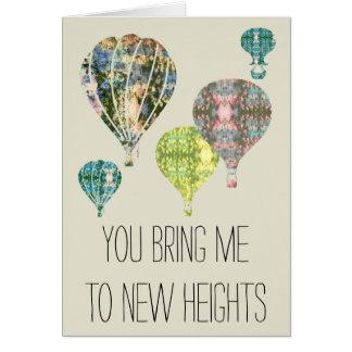 Sie holen mich zu den neuen Jahrestags-Ballonen Grußkarte