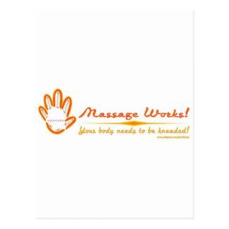 Sie kneten eine Massage! Postkarte