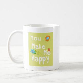 Sie machen mich glückliche Typografie - Limones Tasse