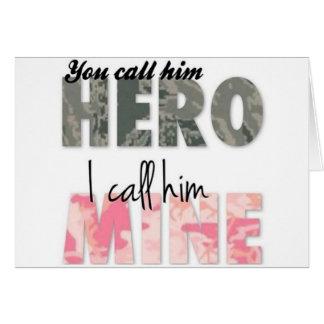 Sie rufen ihn einen Held an, den ich ihn Bergwerk Karte