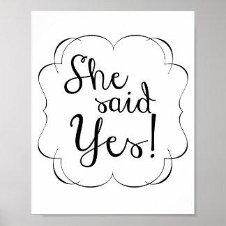 Sie sagte JA! Poster