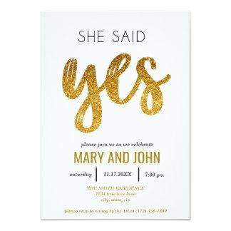 Sie sagte ja Verlobungs-Party Karte