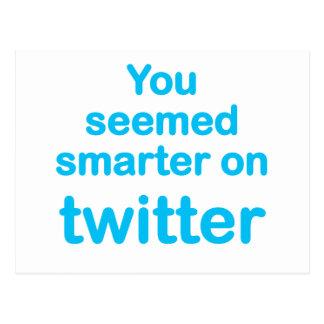 Sie schienen auf Twitter intelligenter Postkarte