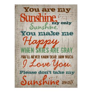 Sie sind das Lied meine Sonnenschein-Kinder Perfektes Poster