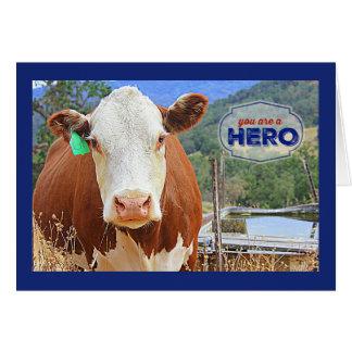 Sie sind eine Held-Kuh Karte