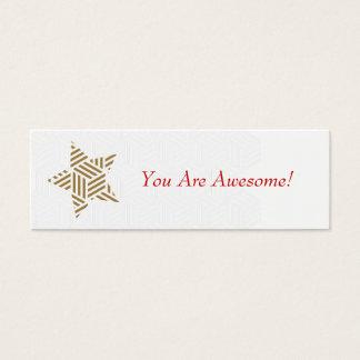 Sie sind fantastisch! (Webart-Goldstern) Mini Visitenkarte