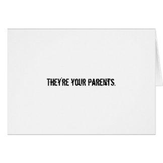 Sie sind Ihre Eltern Karte