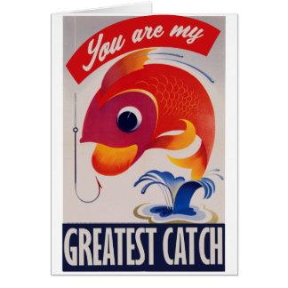 Sie sind mein bestster Fang Grußkarte