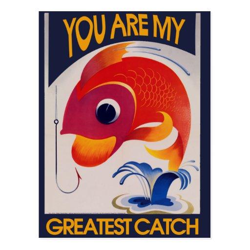 Sie sind mein bestster Fang Postkarte