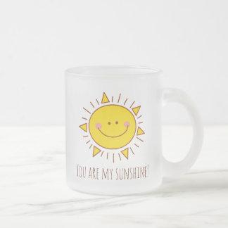 Sie sind mein Sonnenschein-glücklicher niedlicher Matte Glastasse