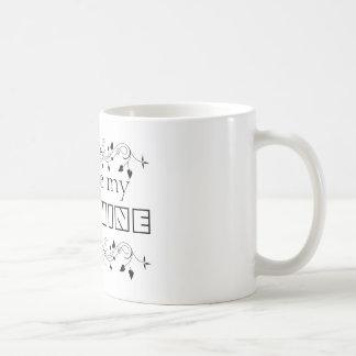 Sie sind mein Sonnenschein-schwarzes u. weißes Tasse