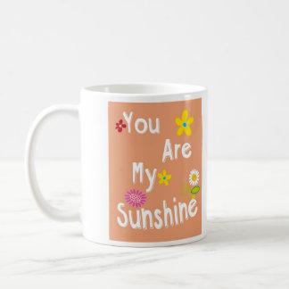 """""""Sie sind mein Sonnenschein"""" Typografie - Orange Tasse"""