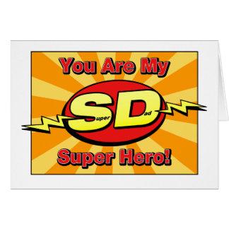 Sie sind meine der Vatertags-Karte Superheld- Karte