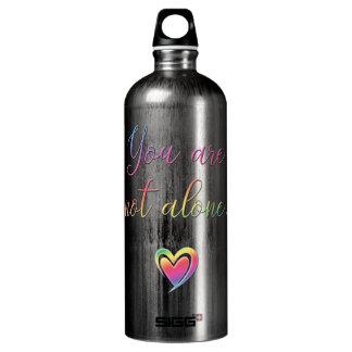 Sie sind nicht allein/Sicherheits-Button Aluminiumwasserflasche