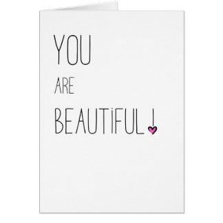 Sie sind schönes - LGBT - rosa Herz Karte