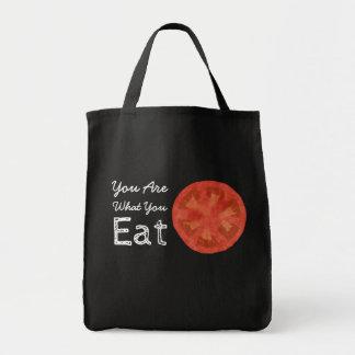 Sie sind, was Sie Tomate-Taschen-Tasche essen Tragetasche
