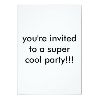 Sie werden zu einem super coolen Party!! 12,7 X 17,8 Cm Einladungskarte