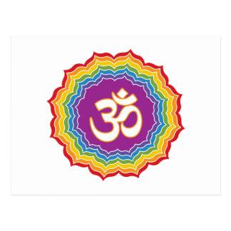 Sieben Chakras Farben Postkarte
