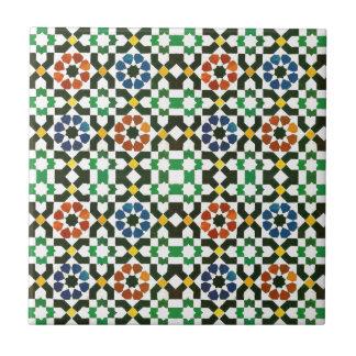 Siebzigerjahre marokkanisches Farbmuster Keramikfliese