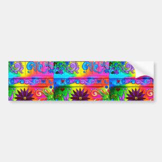 Siebzigerjahre psychedelischer autoaufkleber