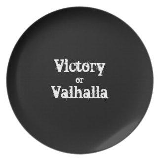 Sieg- oder Walhall-Geschenk Melaminteller