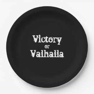 Sieg- oder Walhall-Geschenk Pappteller