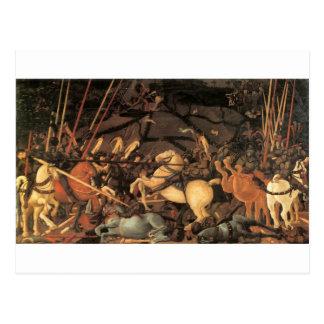 Sieg über Bernardino della Ciarda durch Paolo Ucce Postkarte