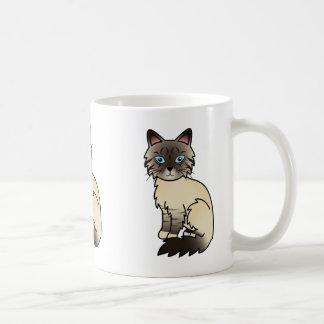 Siegel-PunktTabby Birman/Ragdoll Katze Tasse
