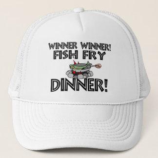 Sieger-Sieger-Fischrogen-Abendessen Truckerkappe