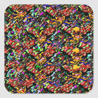 Sieger-Wellen, die Bild gewinnen Quadratischer Aufkleber