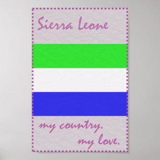 Sierra Leone mein Land meine Liebe Poster
