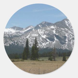 Sierra Nevada-Berge I von Yosemite Runder Aufkleber