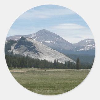 Sierra Yosemite Nationalpark Nevada-Bergiii Runder Aufkleber