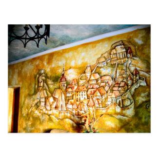 Sighisoara, Wandgemälde der mittelalterlichen Postkarte