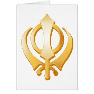 Sikhsymbol Mitteilungskarte