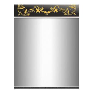 Silber mit Gold auf schwarze Grenzdekorativem Flyer