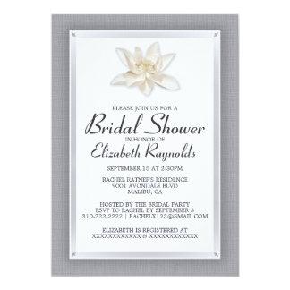 Silberne Brautparty-Einladungen 12,7 X 17,8 Cm Einladungskarte