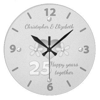 Silberne Hochzeitstag-Uhr Wanduhren