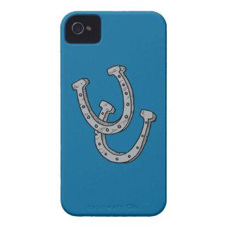 Silberne Hufeisen iPhone 4 Hülle